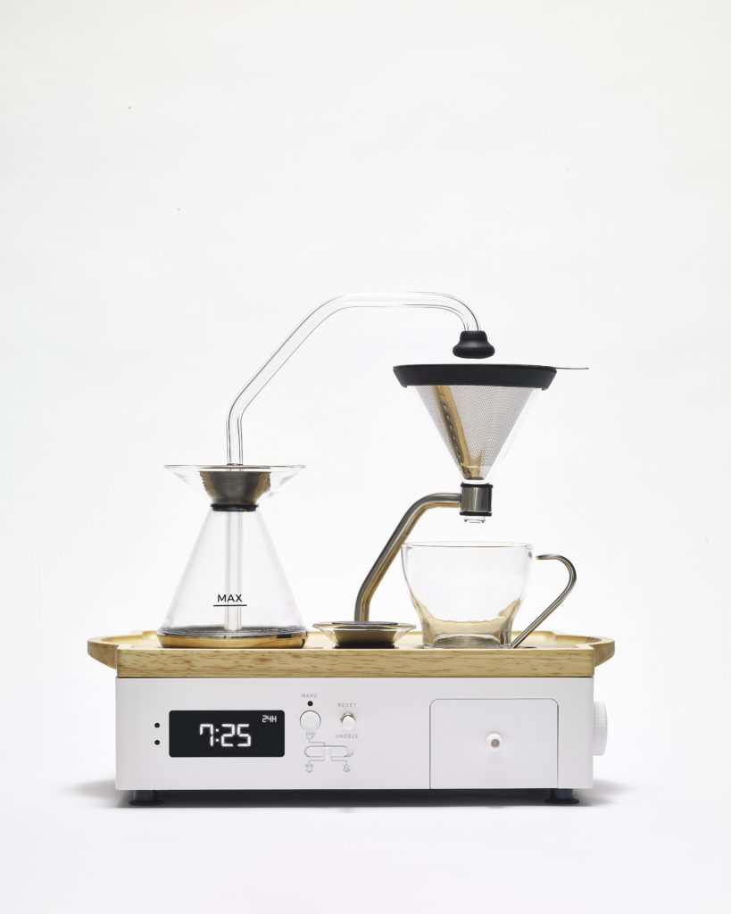 Modelfoto Barisieur koffie wekker wit
